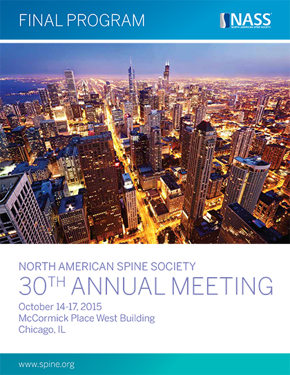 """2015  """"North American Spine Society"""" Meeting di Chicago"""
